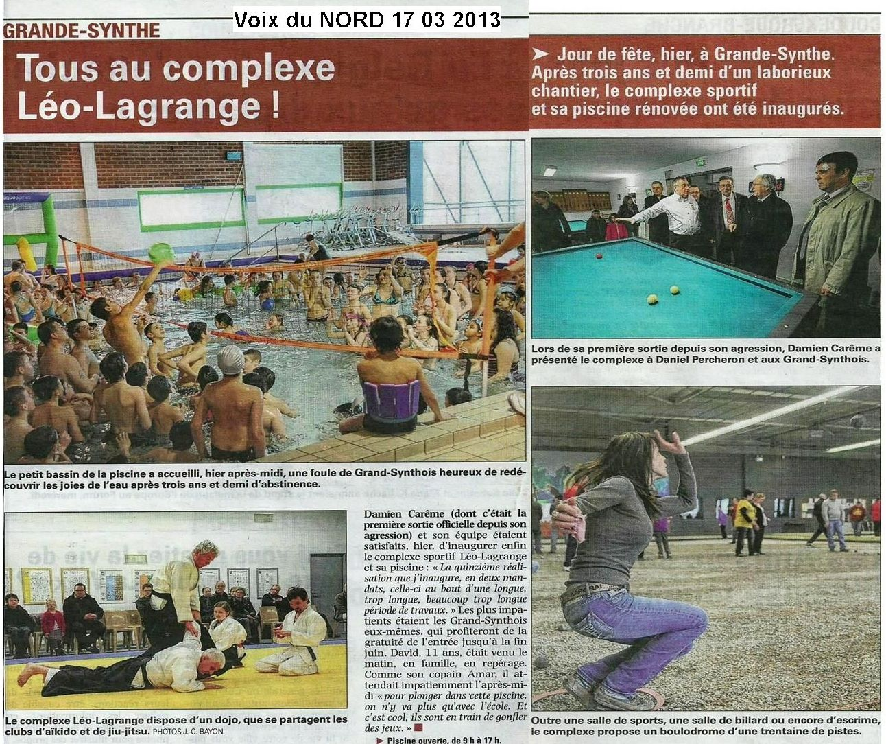Archives ogs natation water polo for Piscine leo lagrange